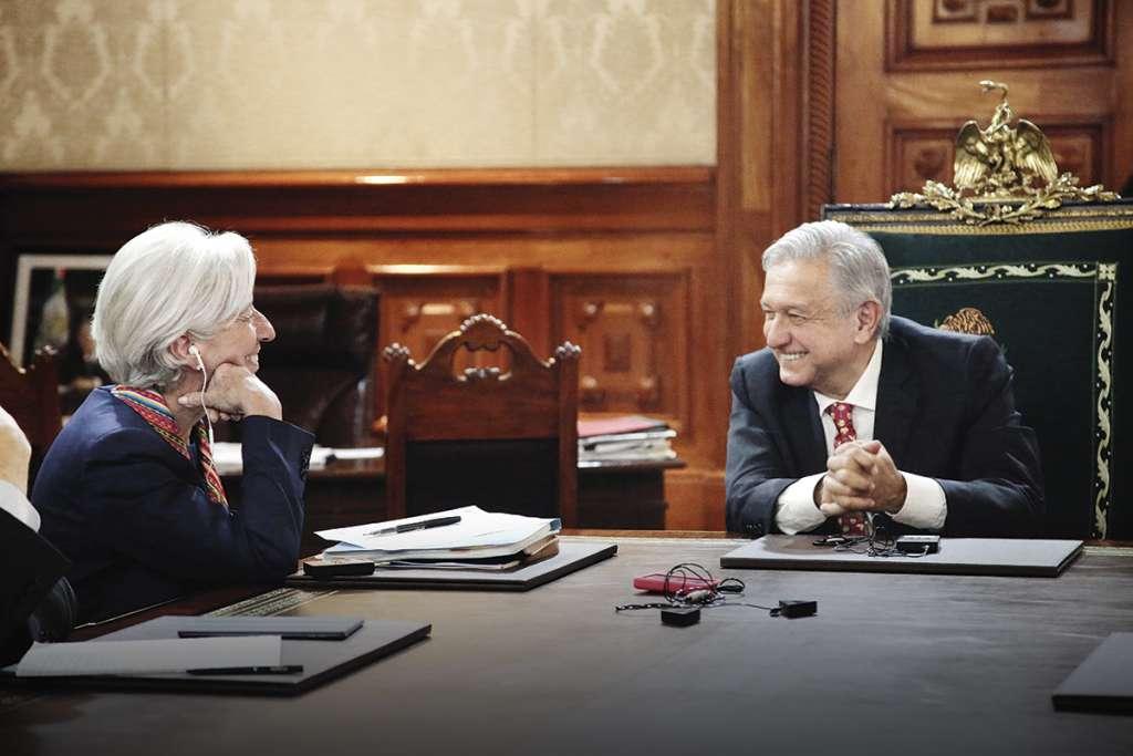 La directora gerente del FMI se reunió con el Presidente de México.FOTO: ESPECIAL