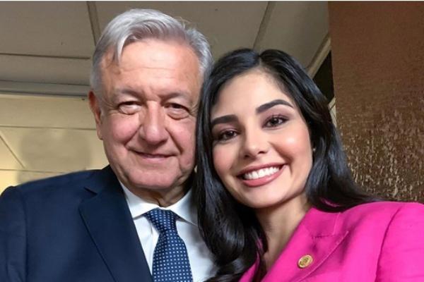 Geraldine Ponce y AMLO