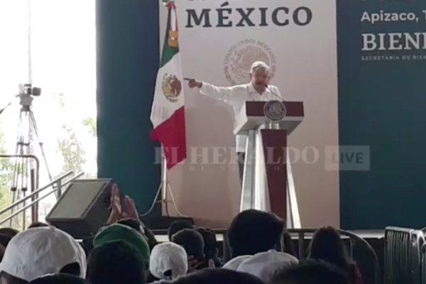 Evento del presidente de México desde Apizaco, Tlaxcala. Foto: Heraldo TV
