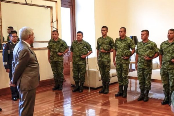 AMLO La Huacana Ejército Sedena