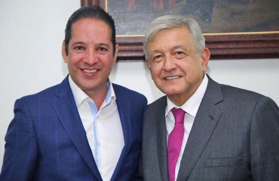El presidente Andrés Manuel López Obrador y el gobernador Francisco Domínguez.FOTO: ESPECIAL
