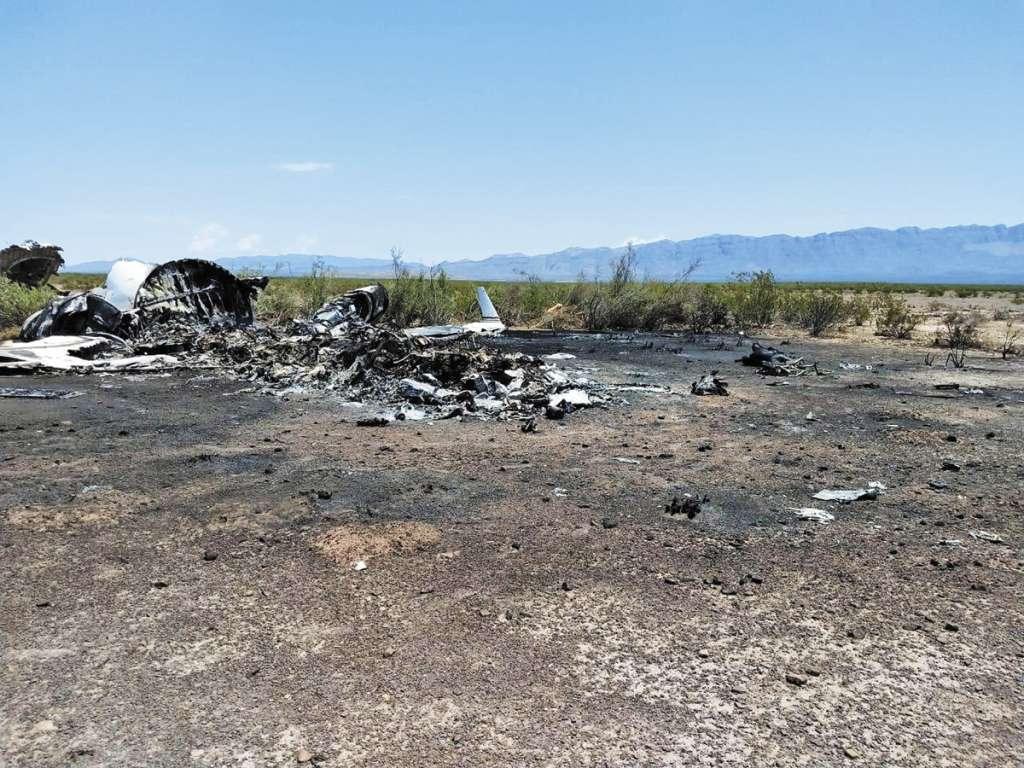 La aeronave cayó en una zona despoblada cercana a Monclova. FOTO:ESPECIAL