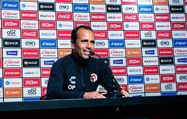 El director técnico de Xolos, Oscar Pareja, dio conferencia a medios de cara al partido de ida en los cuartos de final del torneo de Clausura 2019 de la Liga MX. Foto: Notimex