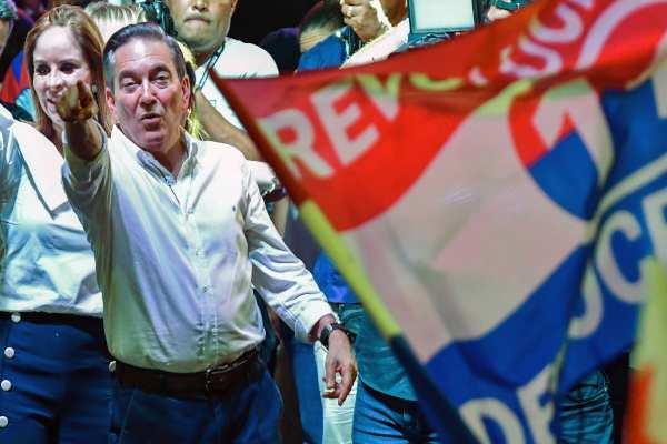 Con más del 95% de las mesas escrutadas, Cortizo obtuvo el 33% de los votos. Foto: AFP