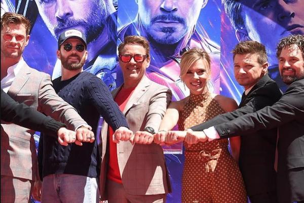Avengers en el estreno de Endgame