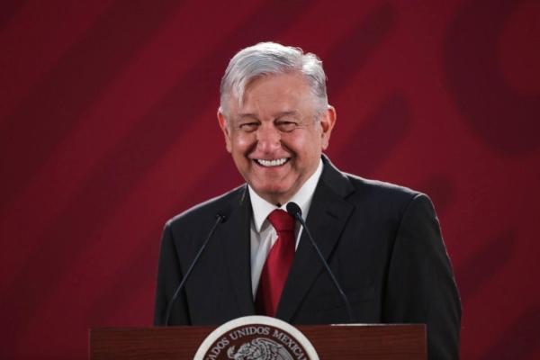 López Obrador en conferencia mañanera