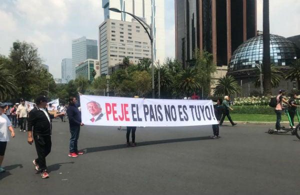 La marcha en la Ciudad de México circuló por Reforma Foto: Debora Cordero