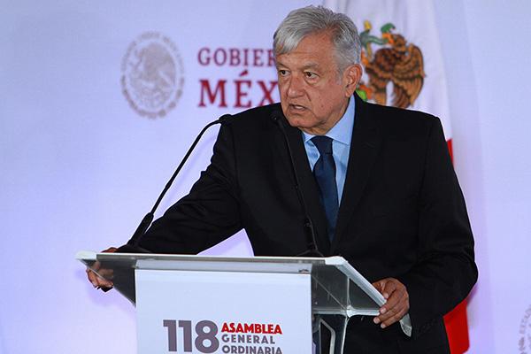 Previamente, a las 7:00 horas, López Obrador encabezará su habitual conferencia de prensa matutina, también en el Salón de la Tesorería de Palacio Nacional. FOTO: NOTIMEX