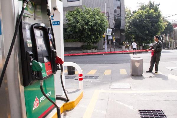 bomba en gasolineria