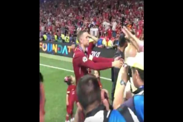Jordan Henderson y su padre, Champions league