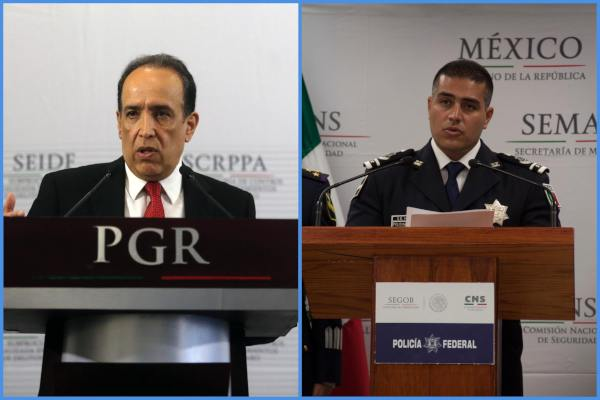 Felipe de Jesús Muñoz, subprocurador de Delitos Federales, y Omar García Harfuch, titular de la Agencia de Investigación Criminal. Foto: Archivo | Cuartoscur