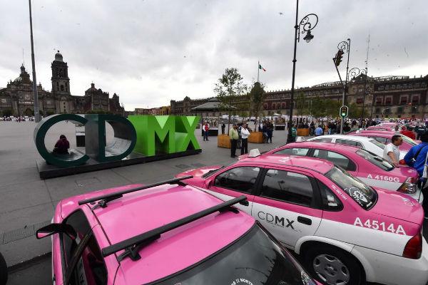 Manifestación taxis zócalo