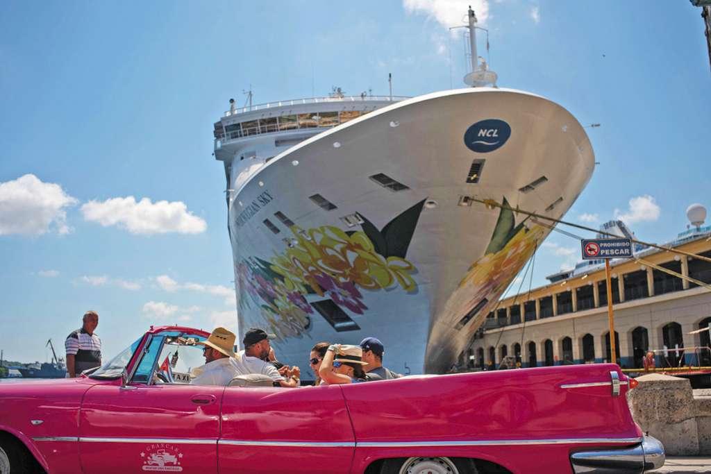 El 55% de los estadounidenses llegó a Cuba en crucero, en lo que va del año.FOTO: ESPECIAL