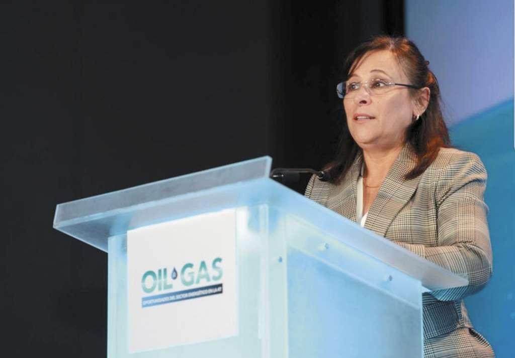 Rocío Nahle, titular de la Sener, estuvo ayer en el foro Oil and Gas. FOTO: ESPECIAL