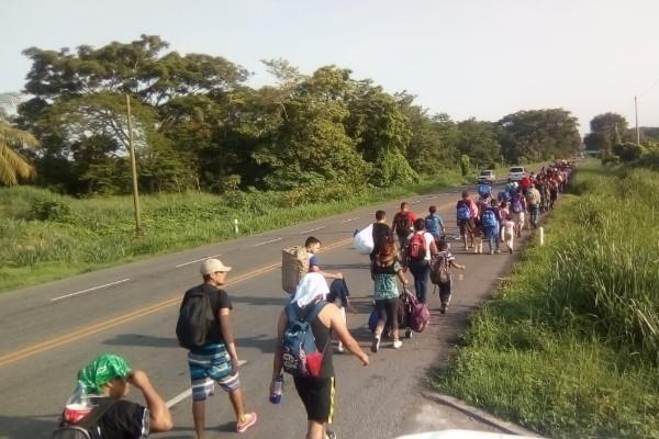 500 Migrantes ingresan a Chiapas