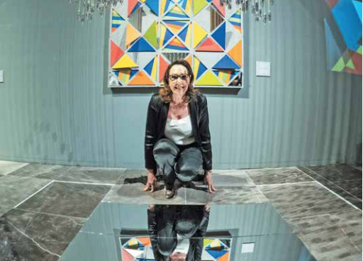 Color, luz y terceras dimensiones, los principales elementos de la obra de Irene. FOTO: YAZ RIVERA