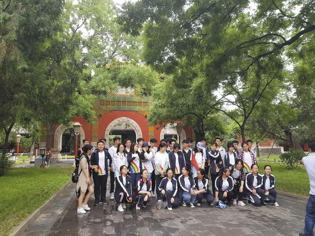 Estudiantes de bachillerato visitaron el templo de Confucio, en Beijing, para pedir buenos resultados en el examen. FOTO: LIZETH GÓMEZ DE ANDA