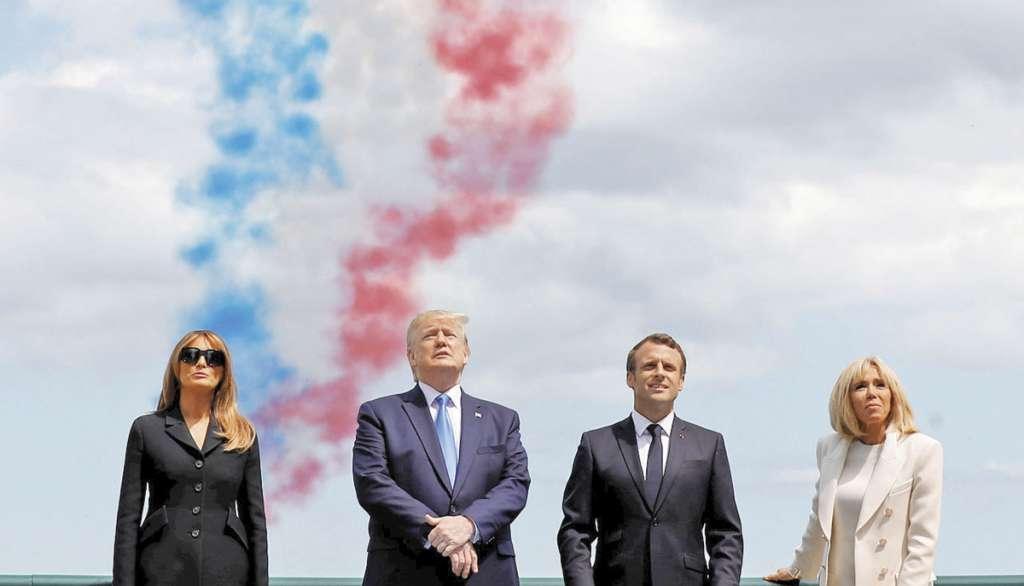 Francia agradeció a EU su apoyo durante la Segunda Guerra Mundial, ayer en Normandía.FOTO: ESPECIAL