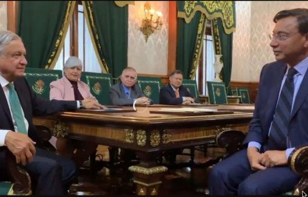 El empresario Lakshmi Mittal, dijo que al enterarse de la visión de país del presidente López Obrador da seguridad y confianza. FOTO: ESPECIAL