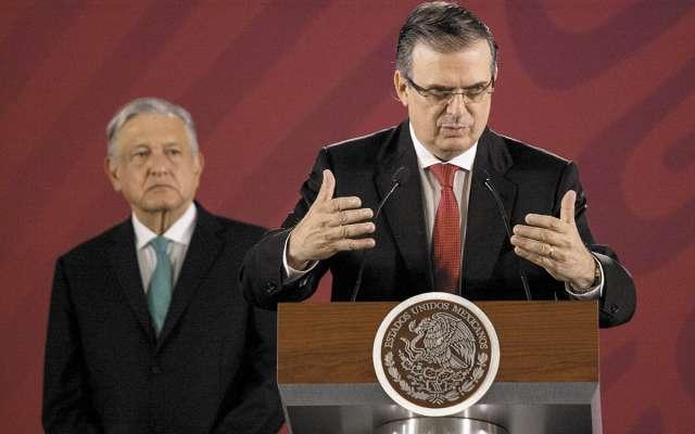 El canciller Ebrard y el presidente López Obrador dieron detalles del acuerdo migratorio con Estados Unidos.FOTO: ESPECIAL