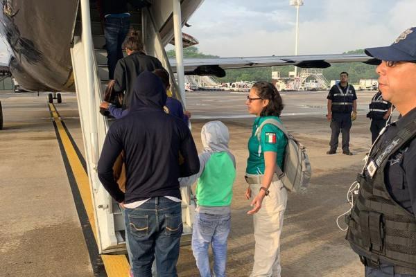 El retorno se llevó a cabo en coordinación con el consulado de Honduras. Foto: INM