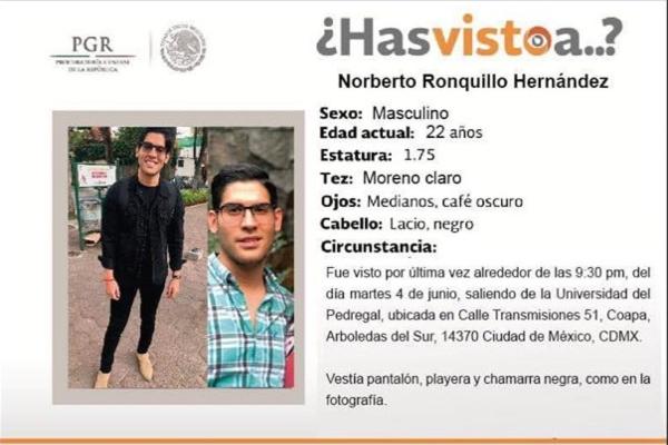 Las autoridades confirmaron que la causa del fallecimiento de Norberto Ronquillo fue provocado por asfixia.
