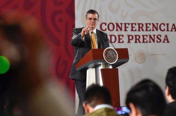 Marcelo Ebrard AMLO Frontera Sur Palacio Nacional