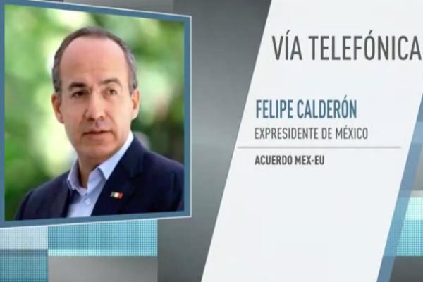 Calderón Hinojosa comentó que México está comprando la amenaza del mandatario de Donald Trump. Foto: Especial