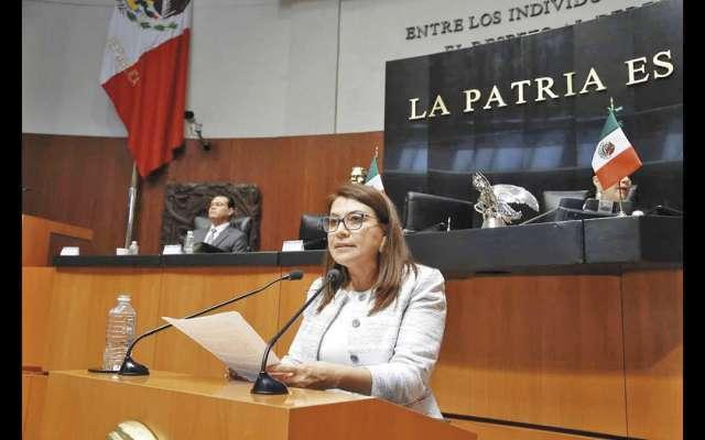 La senadora Saldaña Cisneros pidió abrir un nuevo espacio para calificar a otros aspirantes.FOTO: ESPECIAL