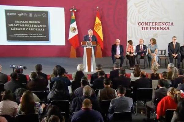 AMLO López Obrador España Exilio Español