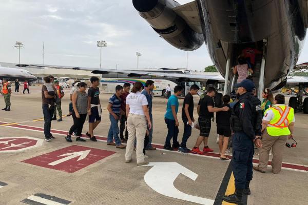 La salida fue desde Villahermosa, Tabasco, a San Pedro Sayula, Honduras. Foto: INM