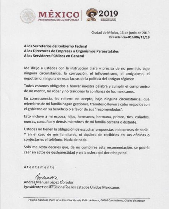 Amlo Ordena A Funcionarios Publicos No Gestionar Tramites De