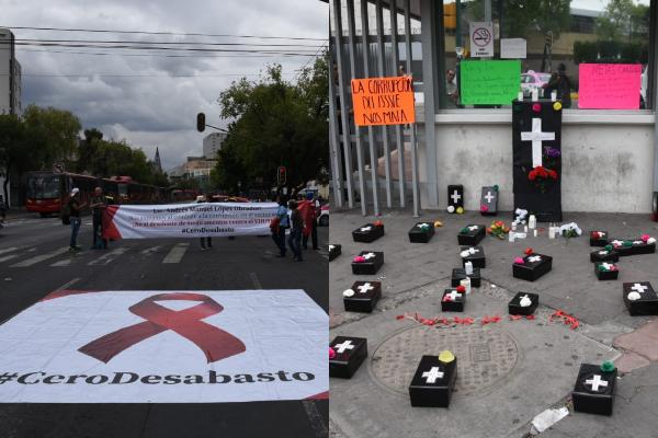 Protesta-pacientes-VIH-ISSSTE-Buenavista-medicamentos