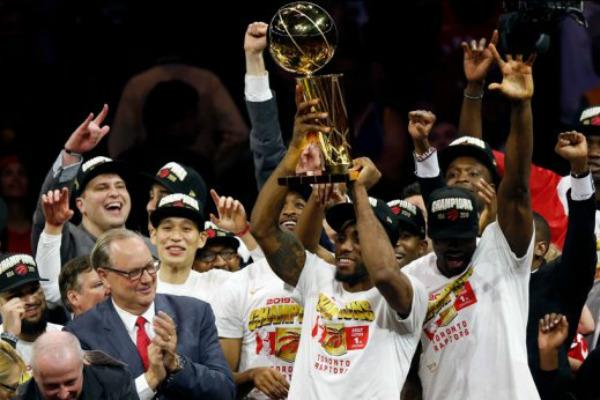 El equipo de Canadá logró su primer campeonato de la NBA. Foto: Especial.