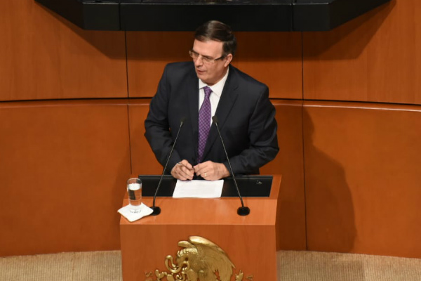 El Canciller acudió a la Comisión Permanente del Congreso de la Unión. Foto: Daniel Ojeda.
