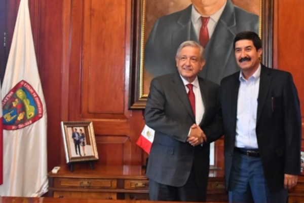 Andrés Manuel López Obrador y Javier Corral