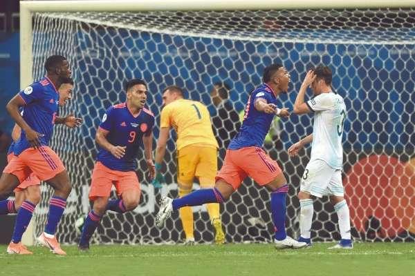 Colombia tenía ocho años sin golear a Argentina. Foto: AFP