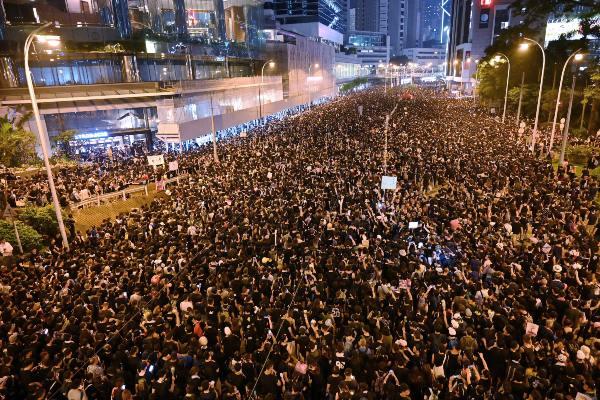 Los manifestantes cantaban