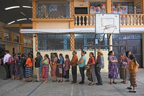 El domingo se votó por Presidente. Foto: AFP