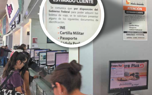 En las líneas de autobuses ahora piden documentos oficiales para poder comprar un boleto a cualquier destino. FOTO: LESLIE PÉREZ