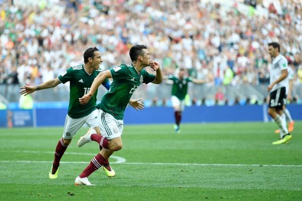 Hirving Lozano y la victoria de México ante Alemania en Rusia 2019.