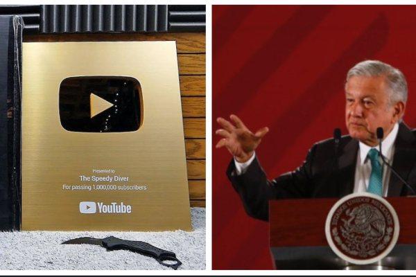 AMLO López Obrador YouTube Botón de Oro