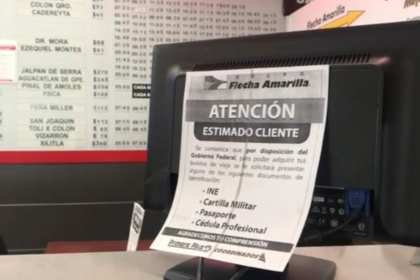identificacion en terminal de autobuses queretaro