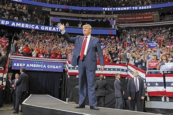 ORLANDO. El presidente Trump inició en Florida su camino para buscar un segundo mandato. Foto: AP