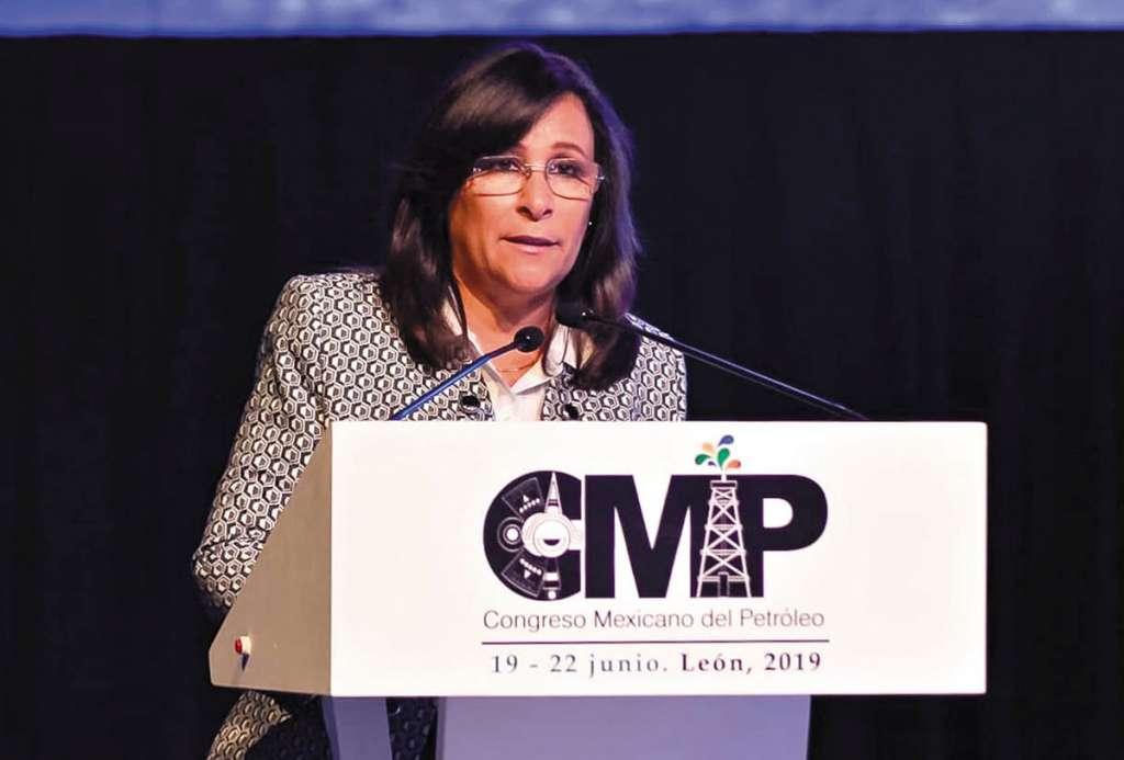 Rocío Nahle, titular de la Secretaría de Energía (Sener), estuvo en el Congreso Mexicano del Petróleo 2019. Foto: Especial