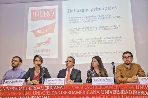 Ayer se presentó el estudio de la Ibero y la Comisión de Defensa de Derechos Humanos. Foto: Especial