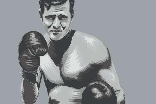 Tommy Burns debutó a los 21 años de edad, y medía 1.70 metros. Ilustración: Allan G. Rodríguez