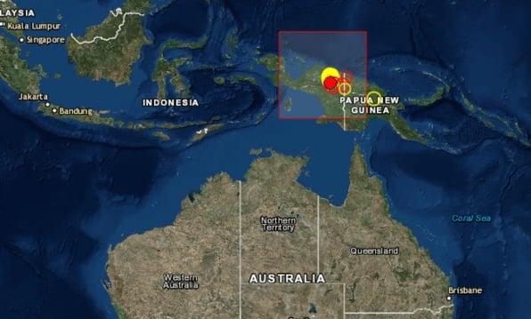 El movimiento telúrico ocurrió a las 01:05 horas a unos 233 kilómetros de la localidad de Abepura. Foto Twitter