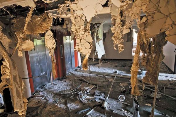 DAÑO. Una planta del hotel Brisas en Maracaibo, después de sufrir un saqueo. Foto: AP