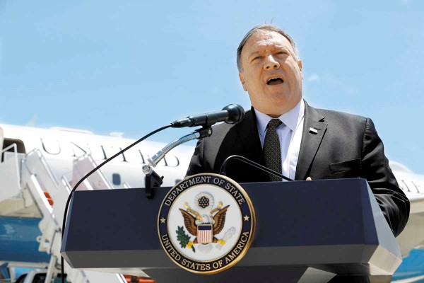 REUNIÓN. Mike Pompeo anunció ayer su visita a Arabia Saudita y Emiratos Árabes Unidos para abordar la crisis actual.